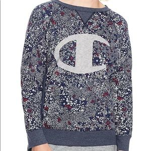 Champion Heritage French Terry Pullover Floral